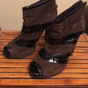 Tory Burch brown suede booties size 8